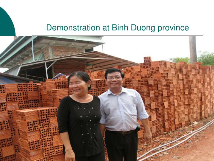 Demonstration at Binh Duong province