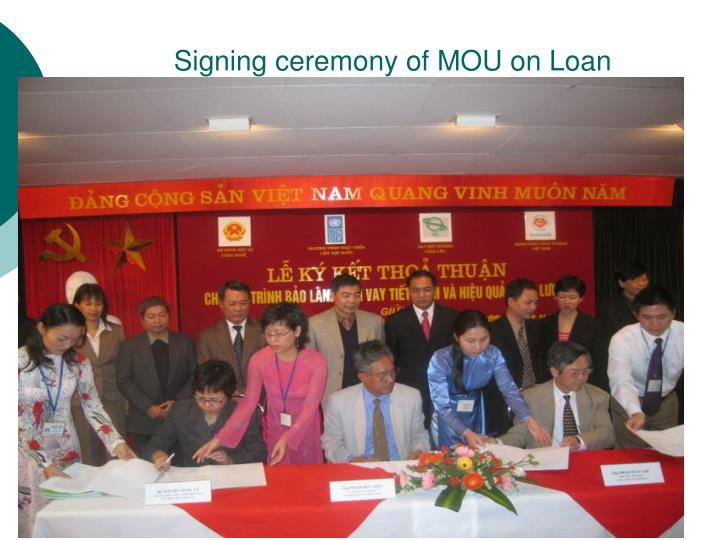 Signing ceremony of MOU on Loan Guarantee Fund Management