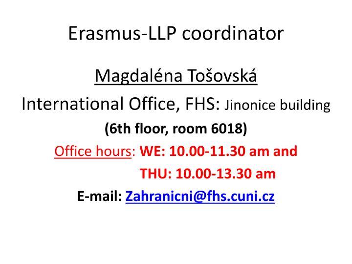 Erasmus-LLP coordinator