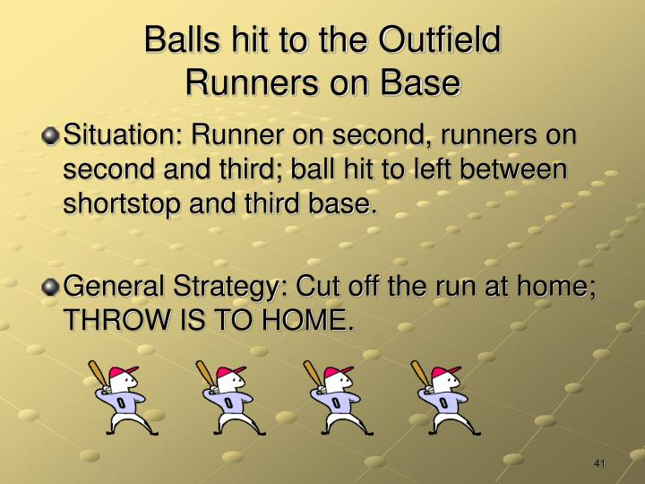 Balls hit to the Outfield
