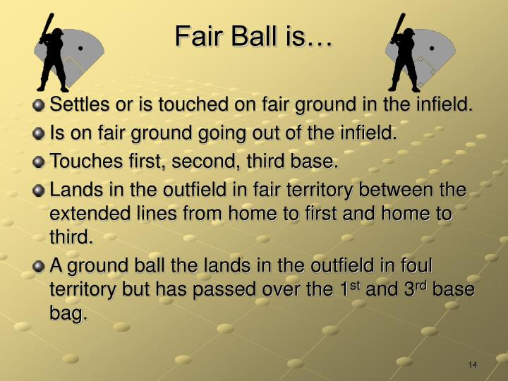 Fair Ball is…