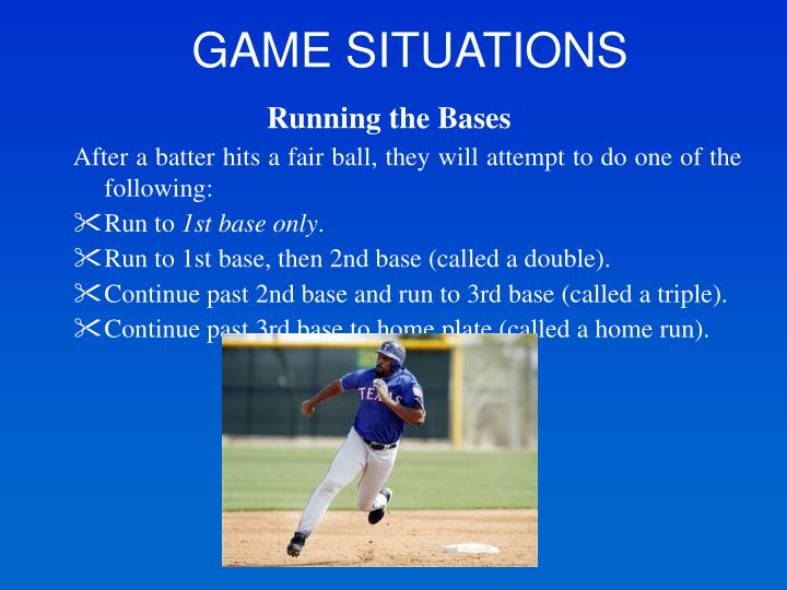 GAME SITUATIONS