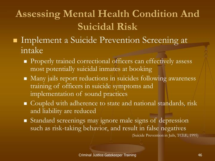 Assessing Mental Health Condition And Suicidal Risk
