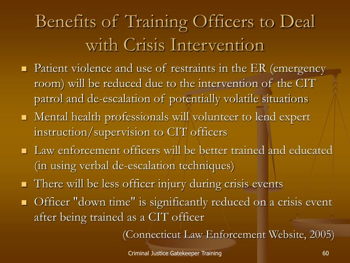Benefits of Training Officers to Deal with Crisis Intervention
