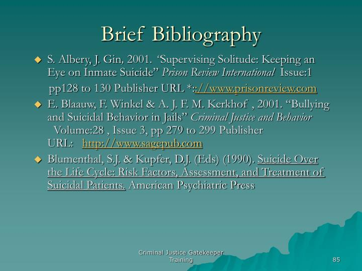 Brief Bibliography