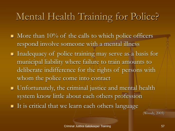 Mental Health Training for Police?