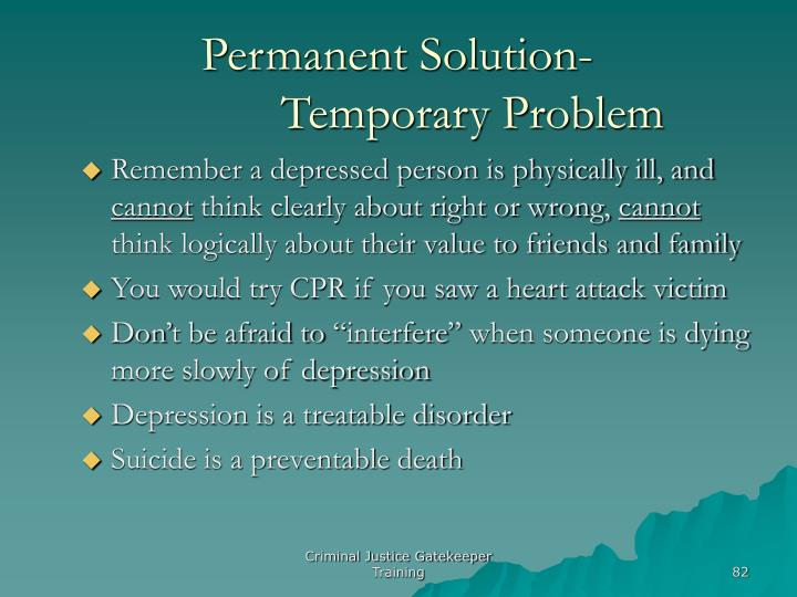 Permanent Solution-