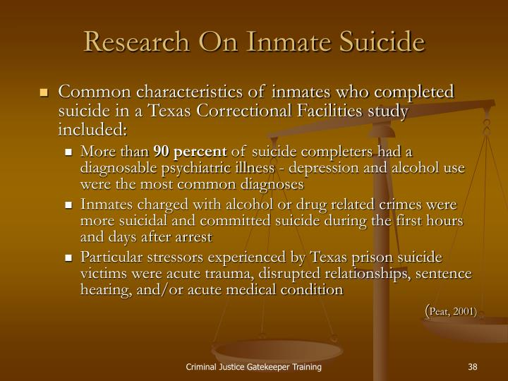 Research On Inmate Suicide