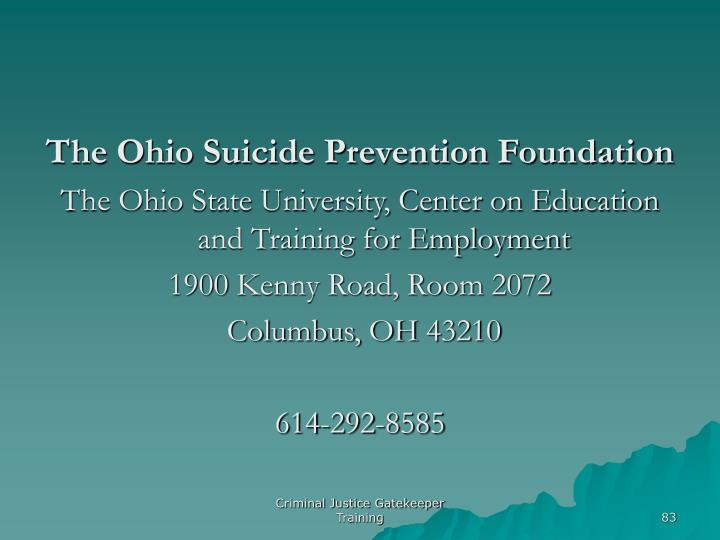 The Ohio Suicide Prevention Foundation