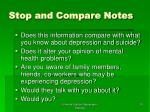stop and compare notes