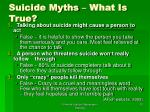 suicide myths what is true
