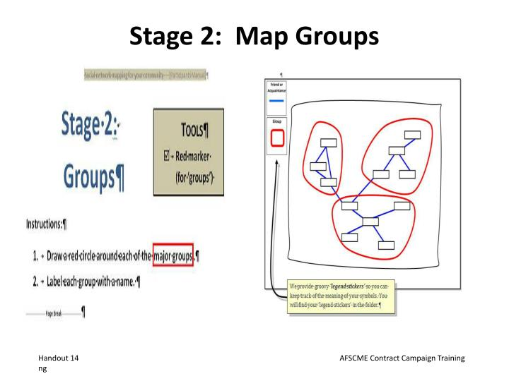 Stage 2:  Map Groups