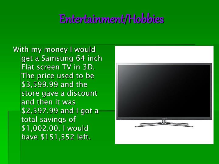 Entertainment/Hobbies