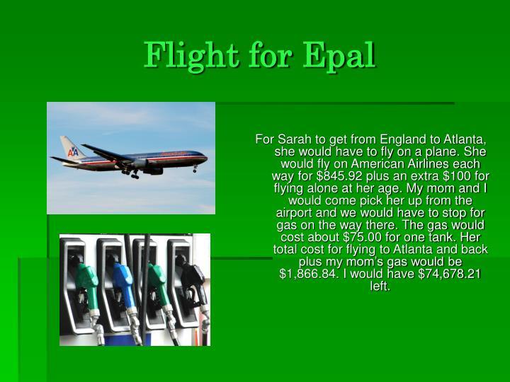 Flight for Epal
