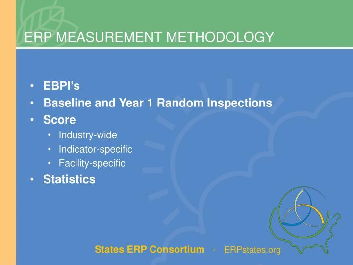 ERP MEASUREMENT METHODOLOGY