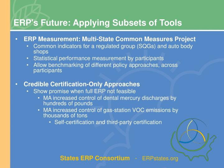 ERP's Future: Applying Subsets of Tools