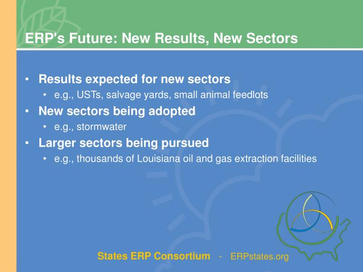 ERP's Future: New Results, New Sectors