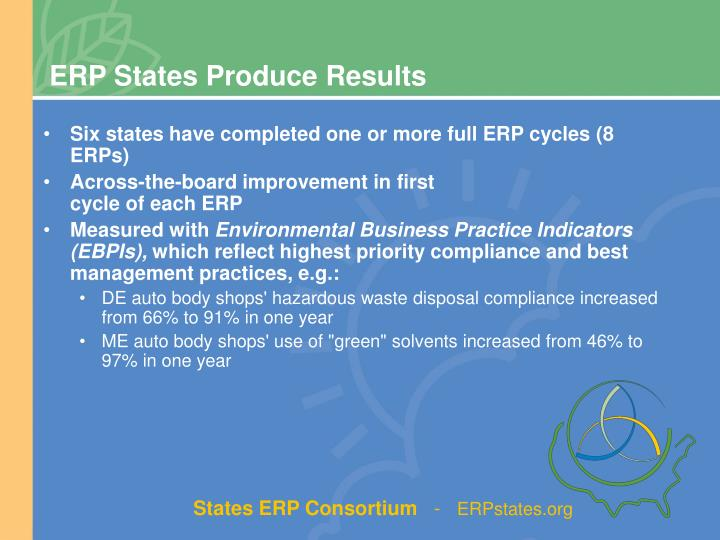 ERP States Produce Results