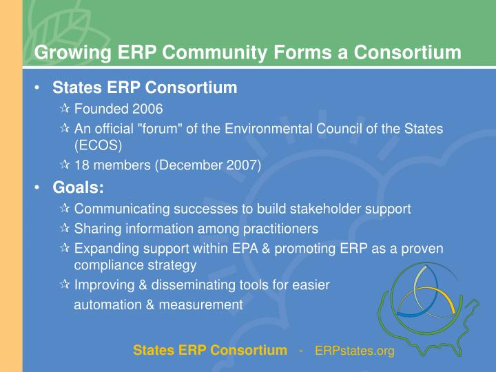 Growing ERP Community Forms a Consortium