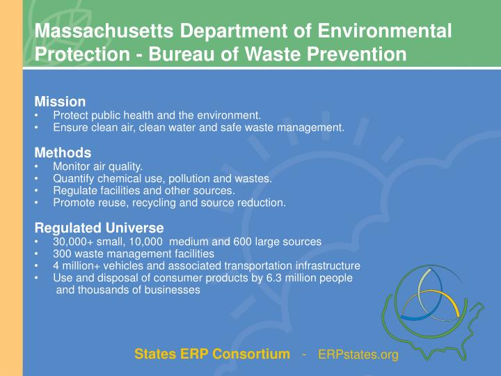 Massachusetts Department of Environmental Protection - Bureau of Waste Prevention