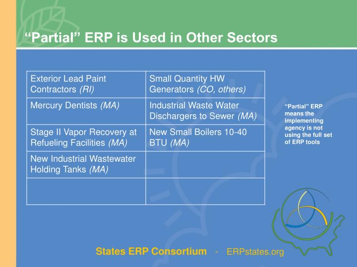 """Partial"" ERP is Used in Other Sectors"