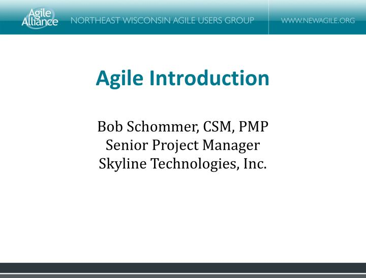 Agile Introduction