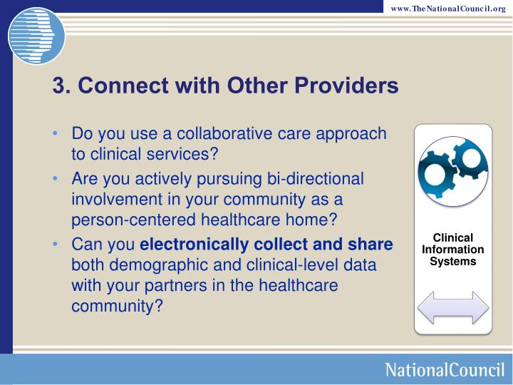 3. Connect with Other Providers