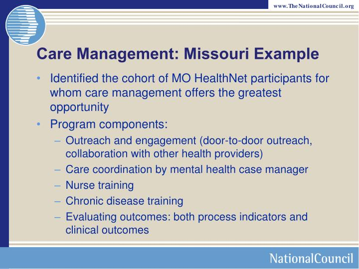 Care Management: Missouri Example
