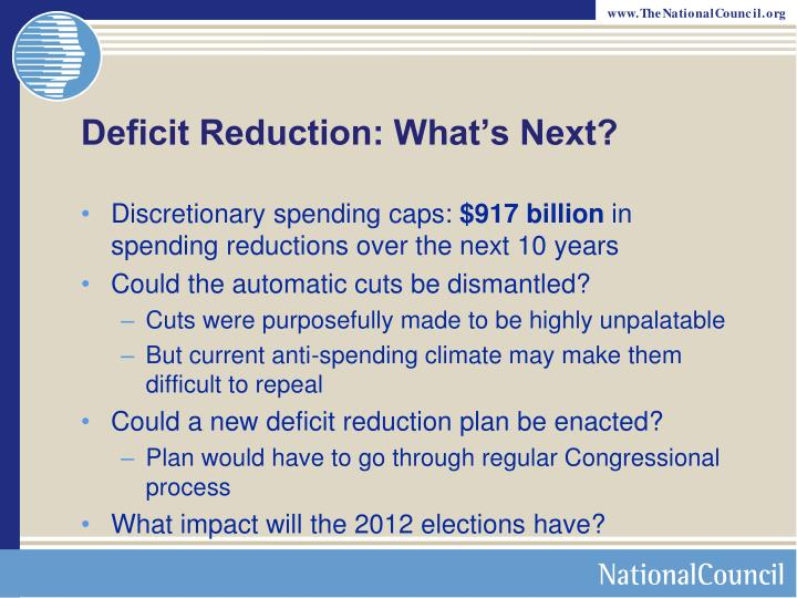 Deficit Reduction: What's Next?