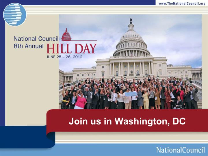 Join us in Washington, DC