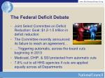 the federal deficit debate