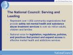 the national council serving and leading