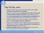 top 10 list cont