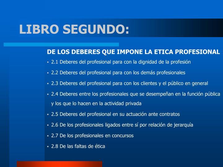 LIBRO SEGUNDO: