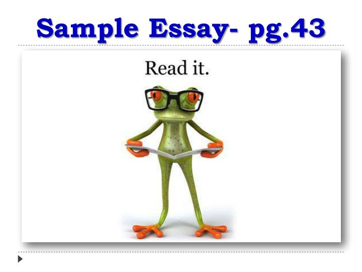 Sample Essay- pg.43