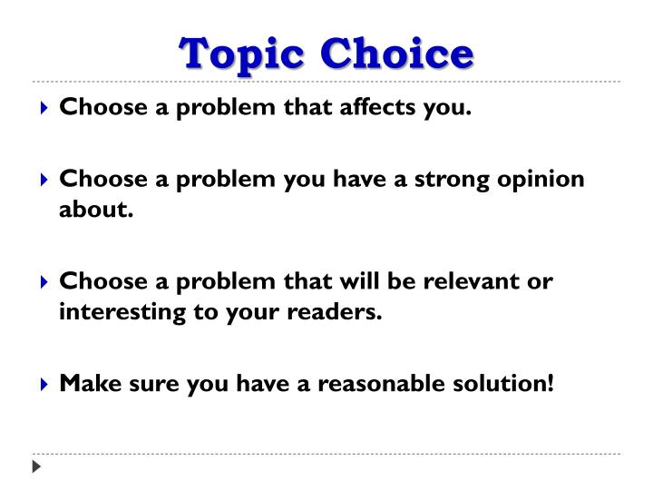 Topic Choice