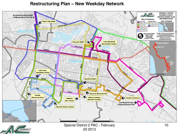 Restructuring Plan – New Weekday Network