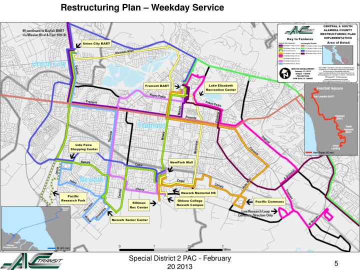 Restructuring Plan – Weekday Service