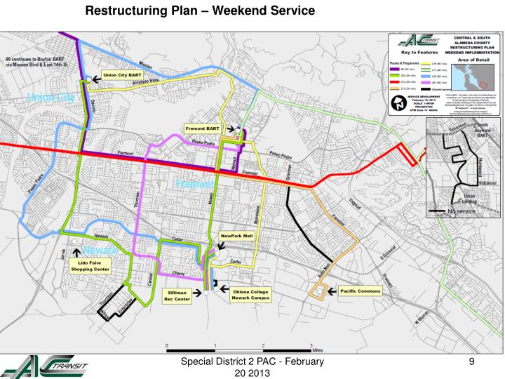 Restructuring Plan – Weekend Service
