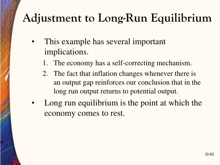 Adjustment to Long-Run Equilibrium