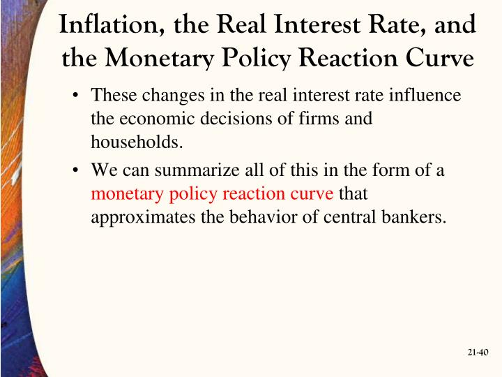 Inflation, the Real Interest Rate, and the Monetary Policy Reaction Curve