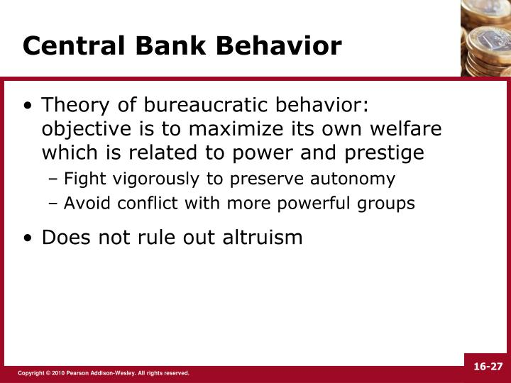 Central Bank Behavior