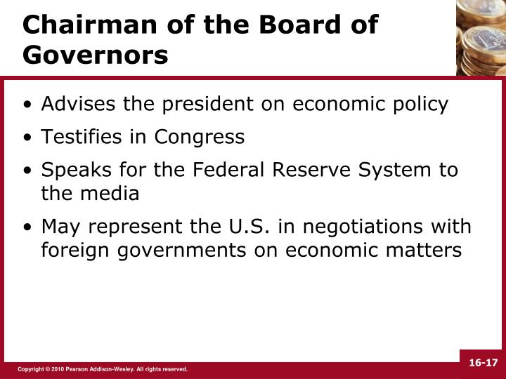 Chairman of the Board of Governors