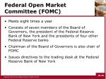 federal open market committee fomc