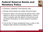 federal reserve banks and monetary policy