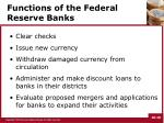 functions of the federal reserve banks