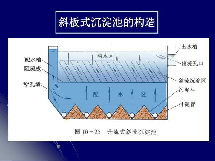 斜板式沉淀池的构造