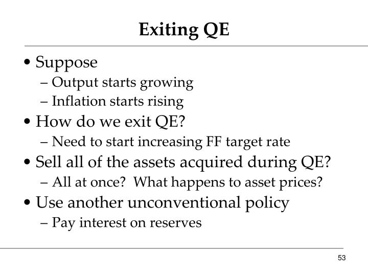 Exiting QE