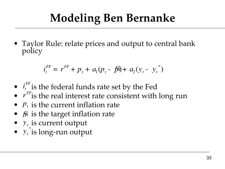 Modeling Ben Bernanke