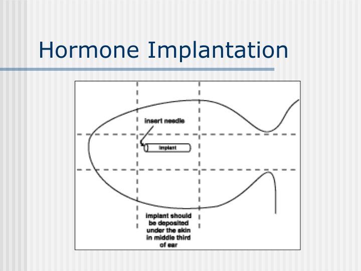 Hormone Implantation
